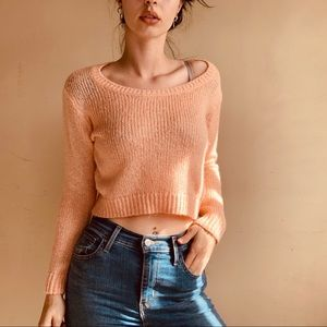 🦖 3/$20 H&M Pink Cropped Sweater - Size 2